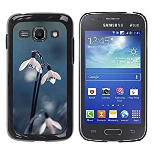 Be Good Phone Accessory // Dura Cáscara cubierta Protectora Caso Carcasa Funda de Protección para Samsung Galaxy Ace 3 GT-S7270 GT-S7275 GT-S7272 // Snow Flower Dew Spring Winter Blu
