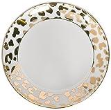 8 Oak Lane EC003LEP Leopard Print Porcelain Dessert Plate, 7'', Gold