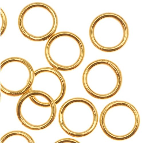 Beadaholique 22K Gold Plated Closed 5mm Jump Rings 21 Gauge (20)