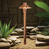 Kichler 15350CO Copper Path & Spread 1-Light 12V, Copper Review