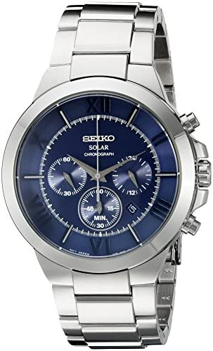 Seiko Men s SSC281 Analog Display Japanese Quartz Silver Watch