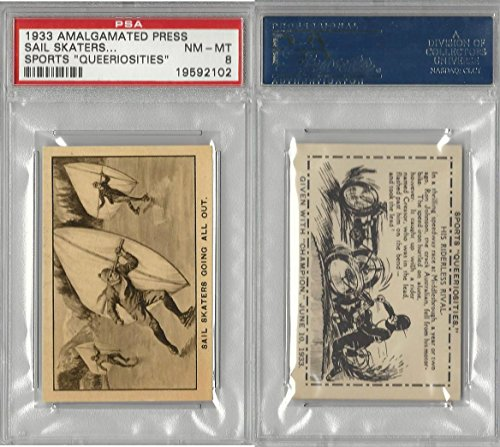 A0-0 Amalgamated Press, Sports Queeriosities, 1933, Sail Skaters, PSA 8 ()