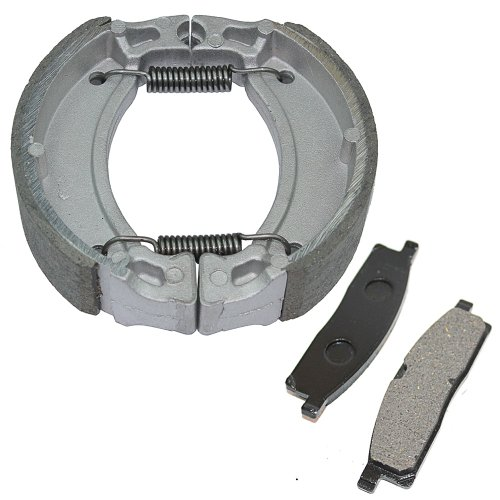 Caltric FRONT BRAKE PADS & REAR BRAKE SHOES Fits YAMAHA TTR125 TT-R125L LE LW LWE 2000-2012 - Front Ttr125