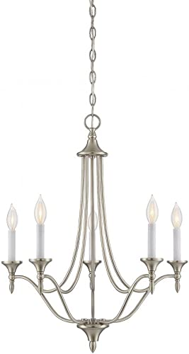 Savoy House 1-1008-5-SN Herndon 5-Light Chandelier in Satin Nickel Finish