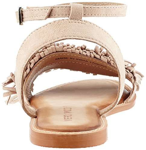 ... Vero Moda Vmluca Leather Sandal, de Tiras para Mujer Beige (Café Au  Lait) ...