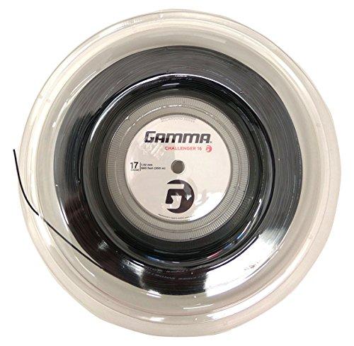 Gamma Challenger Synthetic Gut 17 Gauge Tennis String Reel - Black