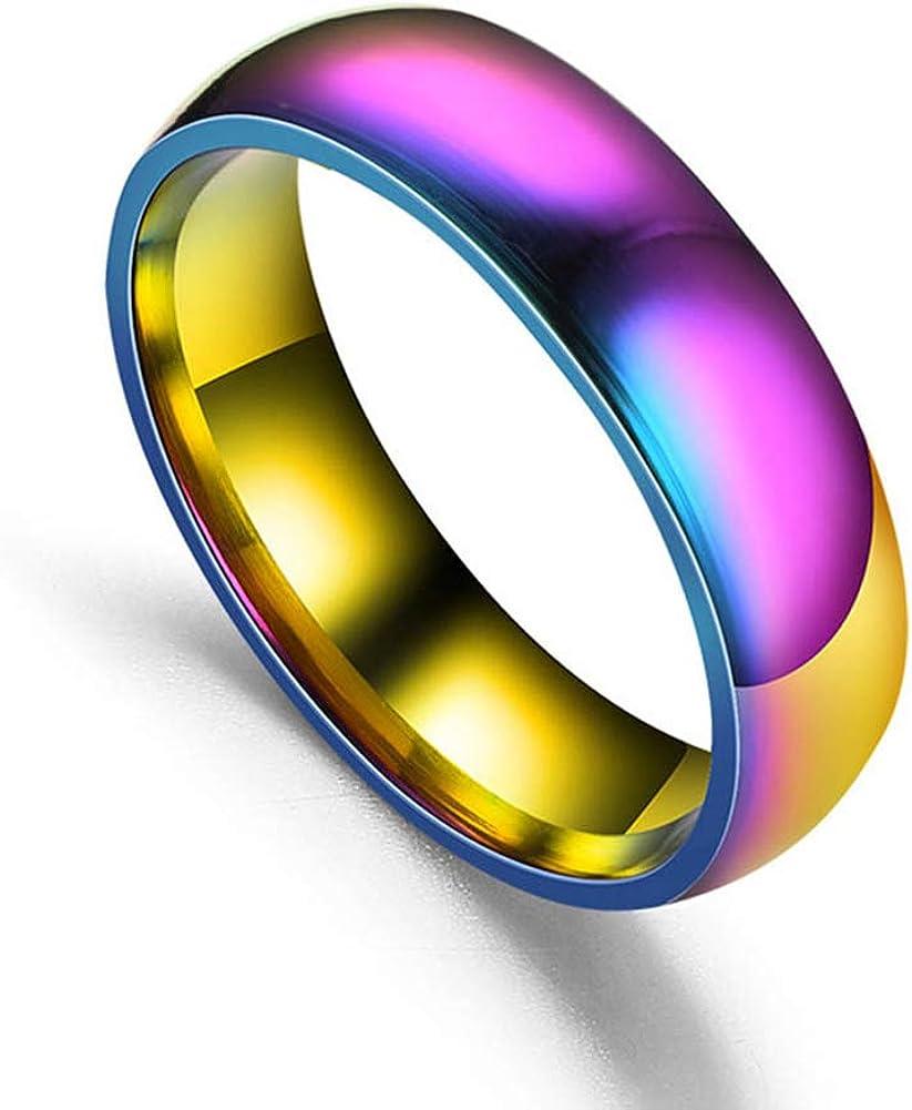 yibenwanligod Multicolor Couple Lover Magnetic Ring Jewelry