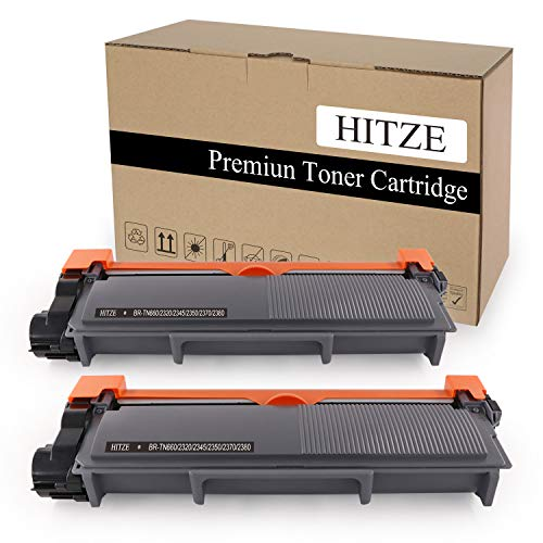 Hitze Compatible Toner Cartridge Replacement for Brother TN660 TN630 DCP-L2540DW HL 2380DW L2300D L2305W MFC L2700DW (Black, 2 Pack, High Yield)