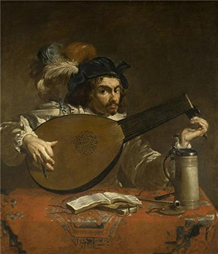The Perfect Effect Canvas Of Oil Painting 'Theodoor Rombouts,The Lute Player,1597-1637' ,size: 24x28 Inch / 61x71 Cm ,this Cheap But High Quality Art Decorative Art Decorative Prints On Canvas Is Fit For Wall Art Decoration And Home Artwork And Gifts