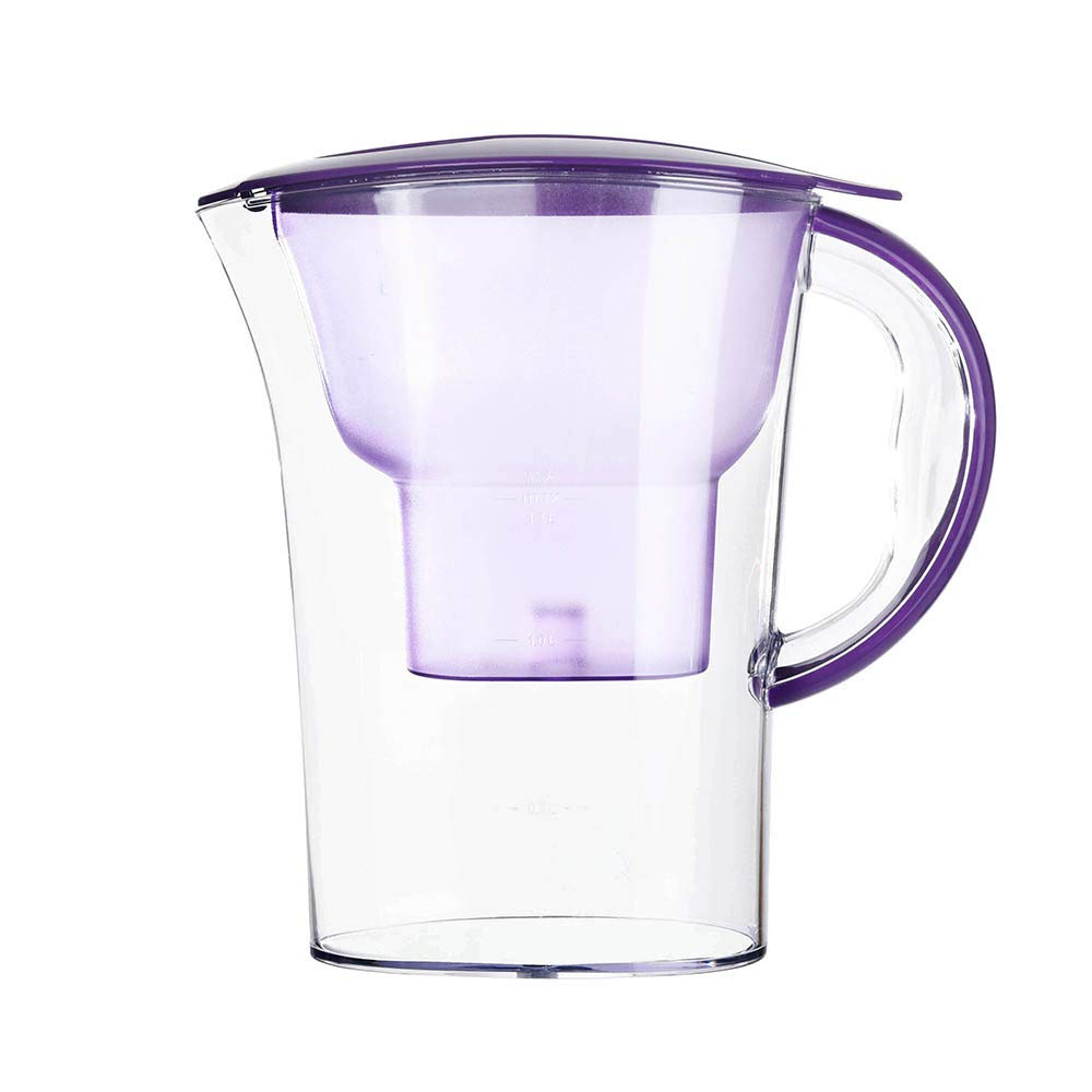 Weite Water Pitcher with Filter, 2.5 Liters Improve PH, Portable Water Filtration System, Provides Family Healthier and Better Drinking Water (A)
