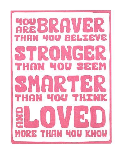 Inspired Typography Letterpress Stronger Inspirational