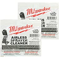 Milwaukee M4910-10 Paint Sprayer (2 Pack) Airless Cleaning Powder # 039601001050-2pk