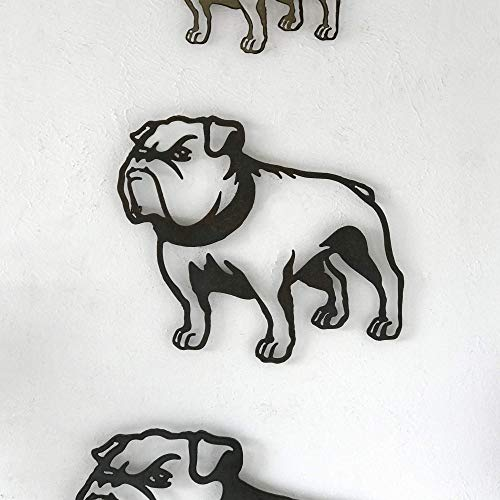 Bulldog - Metal Wall Art home decor - Handmade - Choose 11