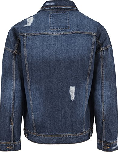 Urban Blu Jacket Denim Ripped blue Washed Uomo Giacca Classics aqYrHa