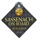 Outlander Sassenach On Board Car Sign