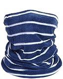 Winter Men Blue and White Striped Scarf Fashion Fleece Neck Warmer Soft Neckerchief multifunctional headgear