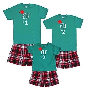 Santa's Elf #1 Green Shirt Boxer Set - Adult Small, S/S, CRB Plaid Boxers (753)