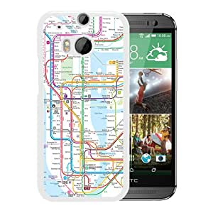 Niche market Phone Case New York subway map White Special Custom Made HTC ONE M8 Cover Case