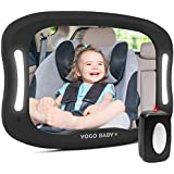 Baby Car Mirror with Remote Control Soft Led Light Shatter-Proof...