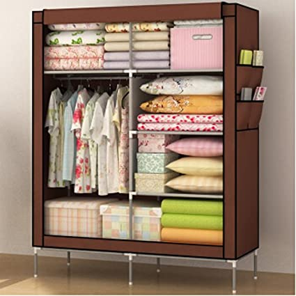 Gentil Generic Home Furniture Folding Portable Clothes Wardrobes Closet Storage  Cabinets Hot (Coffee)