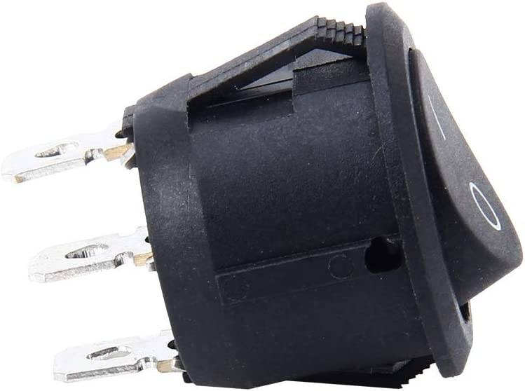 3 interruptores ON//OFF VOLTURY balanc/ín 2 pines 250 V 6 A 125 V 10 A 20 mm Rocker on off negro