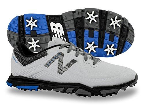 New Balance Men's Minimus Tour Golf-Shoes, White/Black, 13 D D US