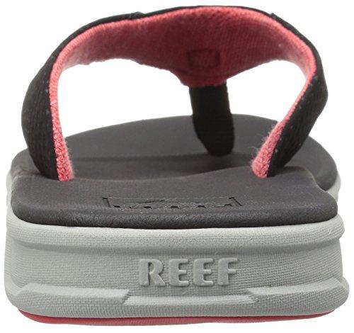 Reef Rover, Sandalias Flip-Flop para Hombre Gris, negro, rojo