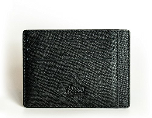 men's Saffiano Axess wallet wallet pocket front leather minimalist RFID from Fn7q0WF