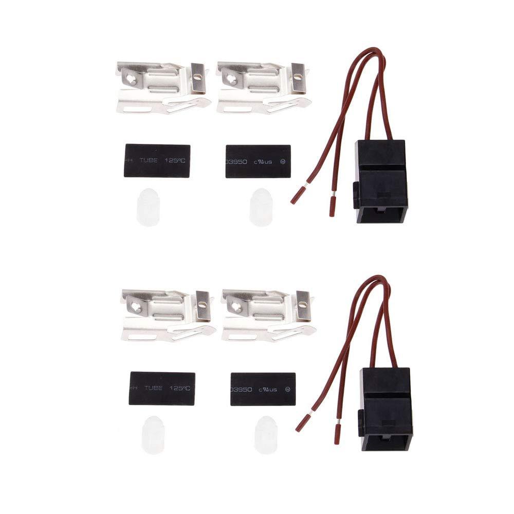 2Sets Electric Stove Range Burner Receptacle Kit ERR117 For Whirlpool Kenmore Repairwares Stove Heating Element/Surface Burner Receptacle Kit 330031 RR117 RR109 5301167733 5303935058 WB17X210 12001673 WB17X