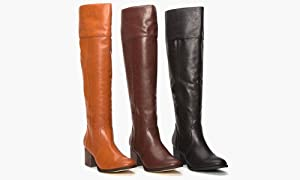 Sociology Women's Wide Calf Tall Riding Boot With Heel, Black