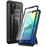 SUPCASE Unicorn Beetle Pro Series Designed for Huawei P30 Pro Case (2019 Release) Full-Body Dual Layer Rugged with Holster & Kickstand (Black) (Black)