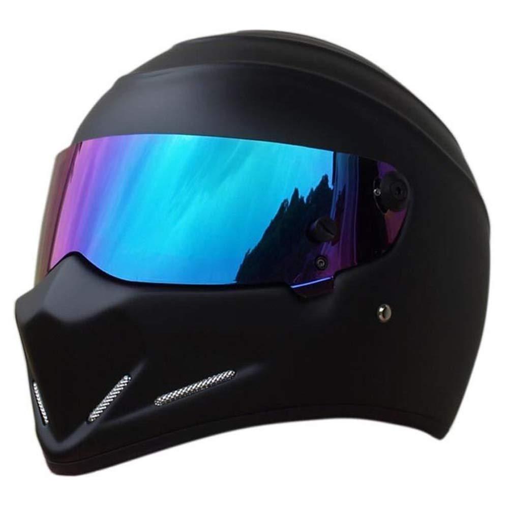 LEAGUE/&CO Motorcycle Helmets Motorbike Helmet Alien Full Face Helmet Visor Off Road Racing Motocross ATV Dirt Bike Helmet for Honda Yamaha Suzuki Kawasaki
