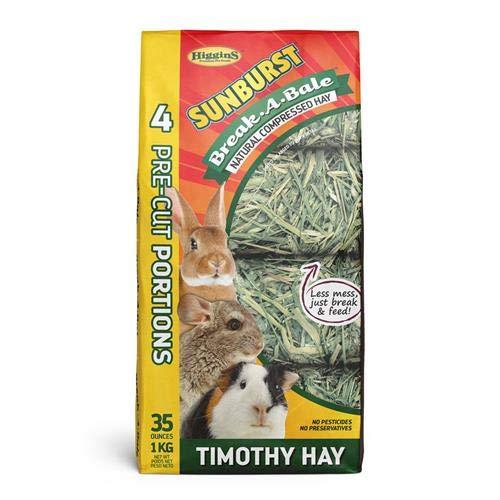 (Higgins Sunburst Break-A-Bale Timothy Hay, 35 Oz, Large)