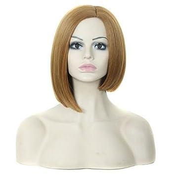Tonake Kurz Blond Pilz Haarschnitt Perücke Frauen Mädchen