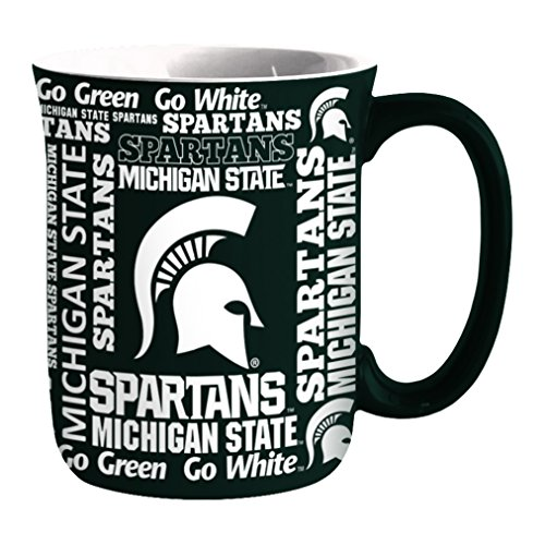 Michigan State Spartans Mug (NCAA Michigan State Spartans Sculpted Spirit Mug, 17-ounce)