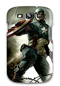Cleora S. Shelton's Shop New Style Awesome Defender Tpu Hard Case Cover For Galaxy S3- Captain America Cg 5716112K98160372