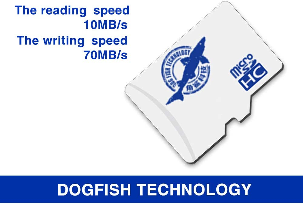 10 Pack Dogfish 32GB MicroSD Card Mobile TF Card with Full-Size Adapter High Speed SDHC Flash Memory Card 32GB