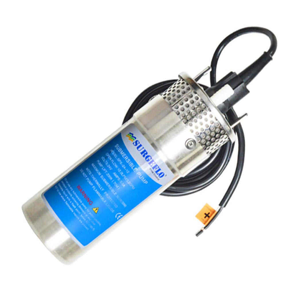 ZJ- submersible pump Stainless Steel Solar Submersible Pump 8L/12L Deep Well DC 12V Micro Pump && (Size : 8L)