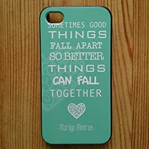 For iphone 6 Case - Protective Case for iphone 6 /Case Marilyn Monroe Quote Love Turquoise