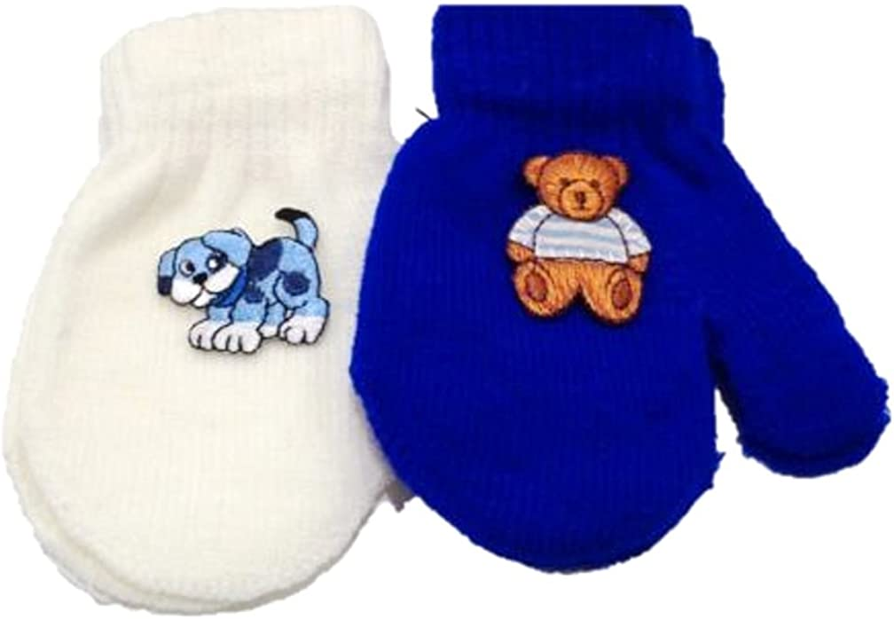 Set of Two Pairs Magic Mittens for Infants Ages 3-12 Months