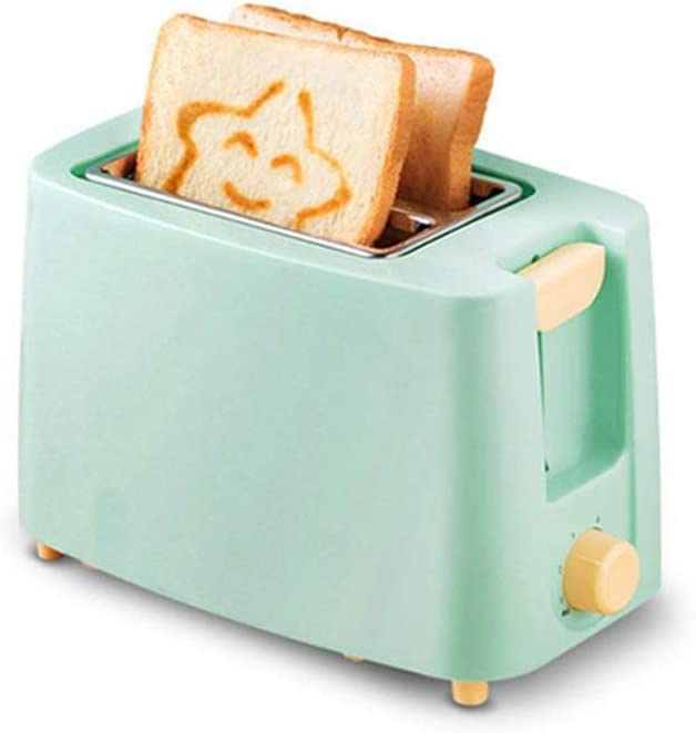 KLYHCHN Toaster with 7 Bread Shade Settings & Removable Crumb Tray, Compact Stainless Steel Toaster Household Automatic Bread Baking Maker Breakfast Machine Toast Grill Oven 2 Slice (Blue)