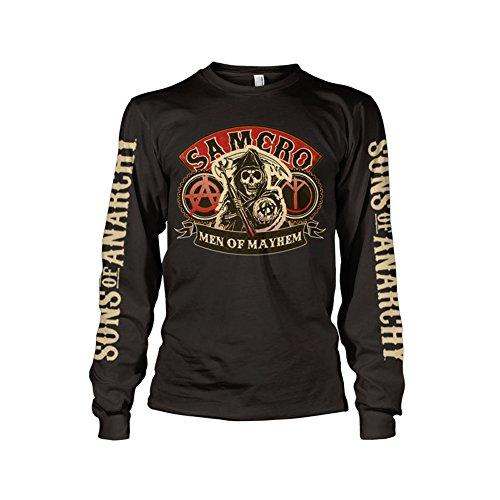 Officially Licensed Merchandise SAMCRO - Men Of Mayhem Long Sleeve T-Shirt (Black), Large