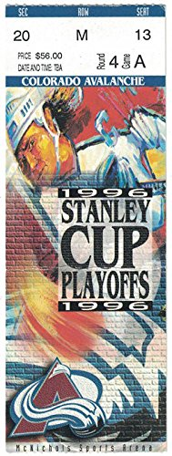 COLORADO AVALANCHE 1996 STANLEY CUP FINAL GAME 1 VS PANTHERS TICKET STUB - Colorado Avalanche Tickets