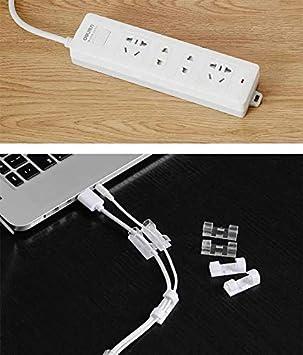 f/ür TV 3 m selbstklebend Hotsilai Kabel-Clips Klammer 40 St/ück PC Schwarz, transparent Schreibtisch schwarz Draht stark Kabelklemme