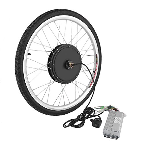 - Genuine store 26 inch 48V 1000W E-Bike Front Wheel Electric Bicycle Motor Conversion Kit, Universal Motor Hub for 26 x 1.75/1.95/2.125
