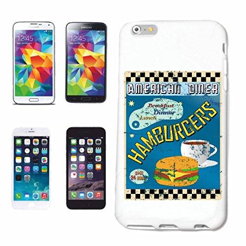 caja del teléfono iPhone 7+ Plus American Diner DESAYUNO ALMUERZO HAMBURGUESA dieta de calorías CHEESEBURGER CAFÉ dieta de adelgazamiento CALORÍAS FIGURA APTITUD IMC ENGRASAMIENTO DICK DELGADO FIGURA