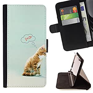 Dragon Case - FOR HTC One M8 - we were together - Caja de la carpeta del caso en folio de cuero del tirš®n de la cubierta protectora Shell
