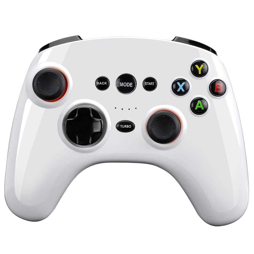 How to Solve The Upset? You Need A Wireless Bluetooth Controller to Play Games Happily (Color : White)