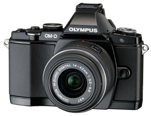 Olympus E-M5 OM-D-Kamera (16 Megapixel, 7,6 cm (3 Zoll) Display, bildstabilisiert) inkl. Objektiv M.Zuiko Digital 14-42mm schwarz