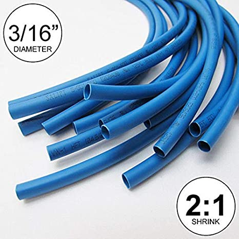 "inch//feet//to 0.8mm 1//32/"" ID Clear Heat Shrink Tube 2:1 ratio polyolefin 25 ft"